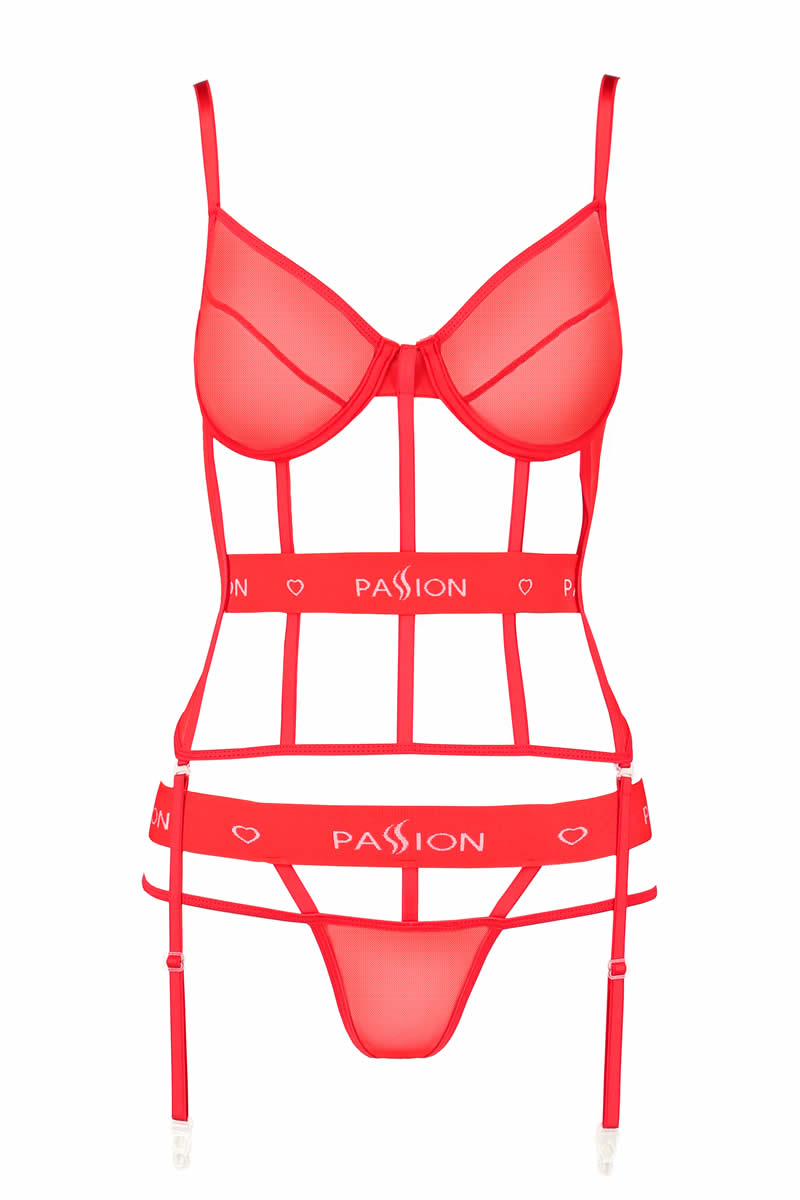 Kyouka corset red by Passion Lingerie