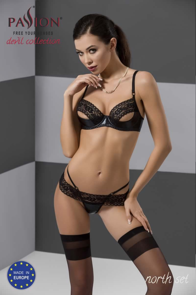 North set sexy εσωρουχα δερματίνη by Passion Devil Collection.