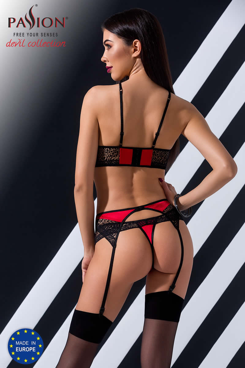 Scarlet Set red. Σέξι εσωρουχα Passion Devil Collection
