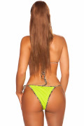 Neon Yellow Neck-Bikini with removable pads.