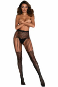 Leopard Fishnet Straps-Stockings 8703
